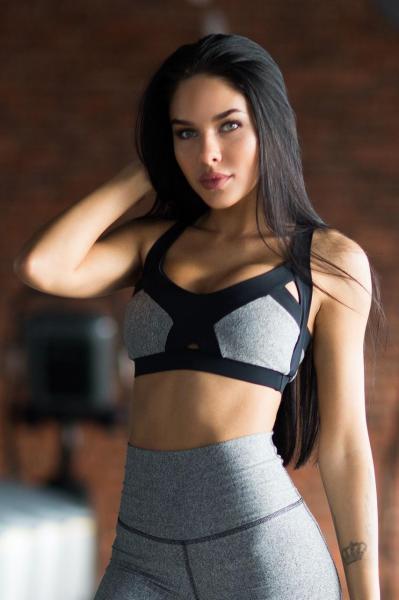 Топ Bra Jersey Black Designed for fitness