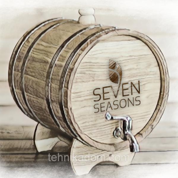 Бочка дубовая (жбан) для напитков Seven Seasons™, 100 литров