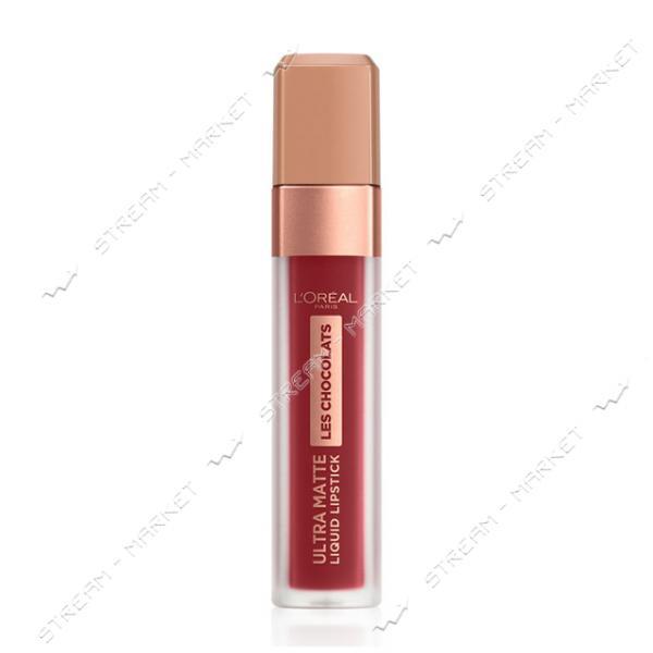 """Жидкая помада для губ L""""Oreal Paris Les Chocolats Ультра-матовая 864 Tasty Ruby 7.6мл"""