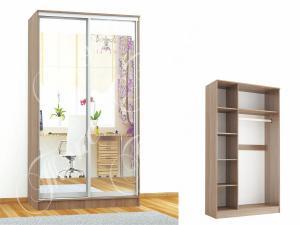 Фото шкафы, шкафы-купе КОМФОРТ-2( 2 зеркала)