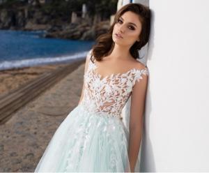 Фото Свадебные платья Свадебное платье цвета мята (Тиффани) Аквамарин