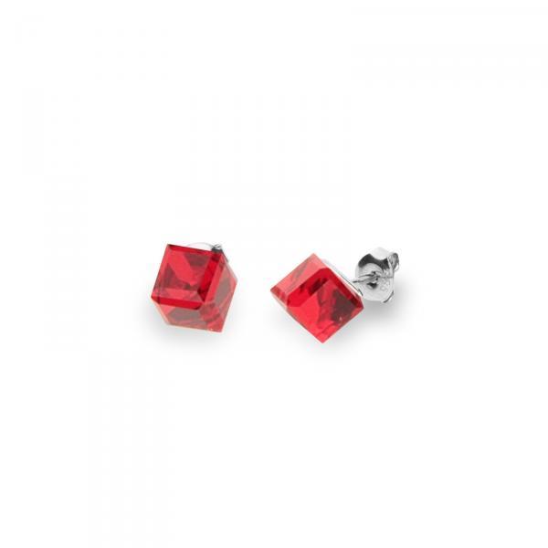 Серебряные серьги SPARK Medium Cube 6x6 мм со Swarovski модели K48416SI