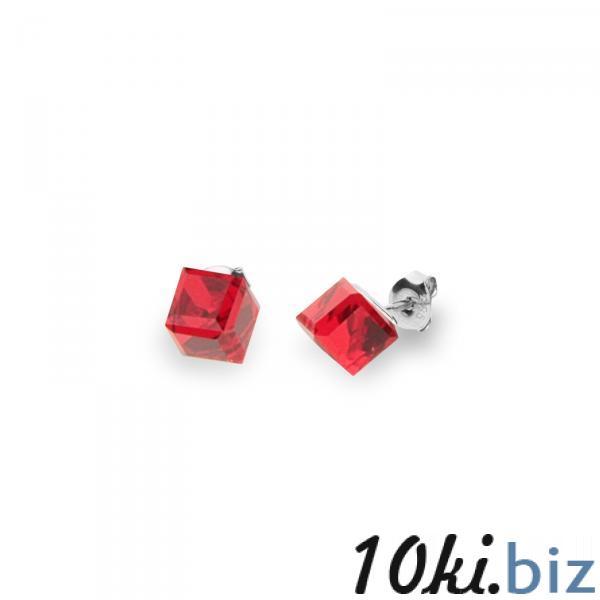 Серебряные серьги SPARK Medium Cube 6x6 мм со Swarovski модели K48416SI - Серебряные серьги в магазине Одессы