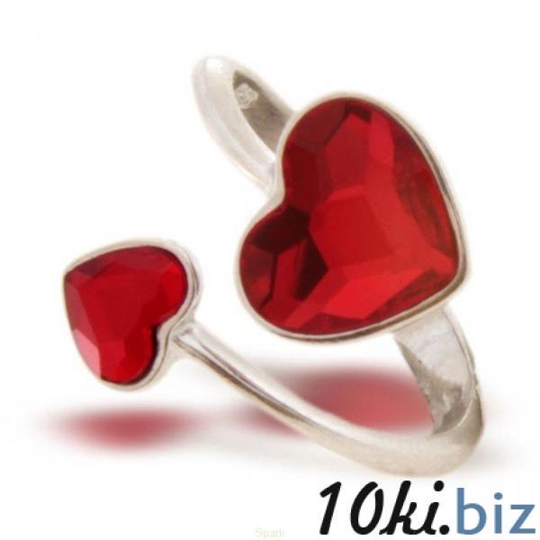 Серебряное кольцо SPARK Heart со Swarovski модели P2808SI Серебряные кольца на 7км Одесса