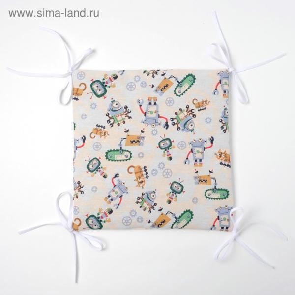 Бортик Крошка Я «Роботы» (32×32 см - 12 шт.) бязь/синтепон