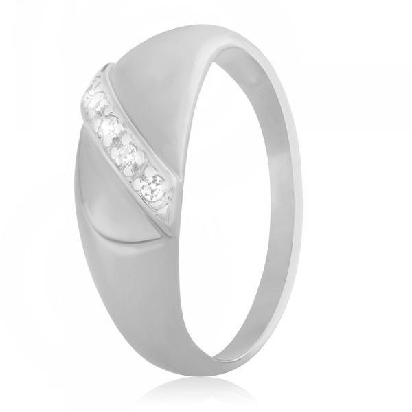 Серебряное кольцо Silvex925 с фианитом 16.5 мм модели К2Ф/072-Д