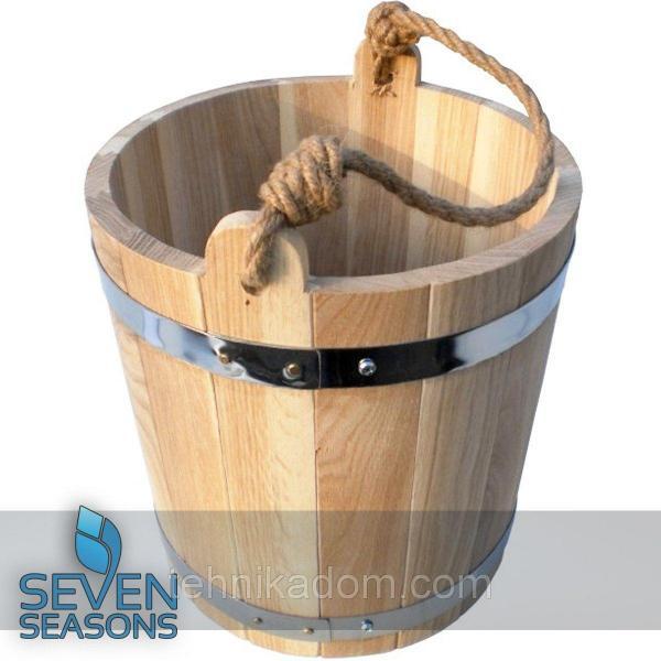 Ведро из дуба для бани Seven Seasons™, 7 литров