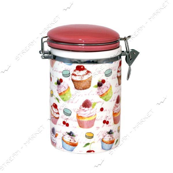Емкость для сыпучих продуктов SNT на зажиме 1.2л десерт