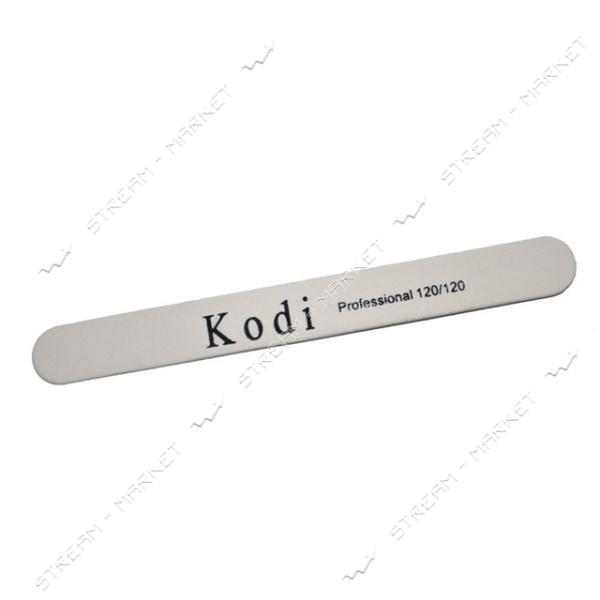 Пилка для ногтей Kodi Professional 120/120 прямая на деревянной основе