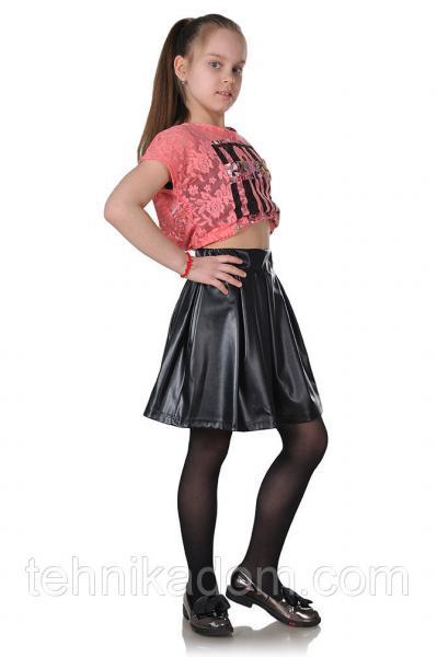 Детская юбка-бантовка черная