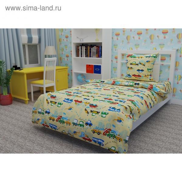 Детское постельное бельё 1,5 сп. «Машинки»
