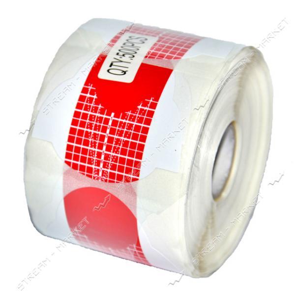 Бумажные формы для наращивания ногтей квадрат-стилет бело красные
