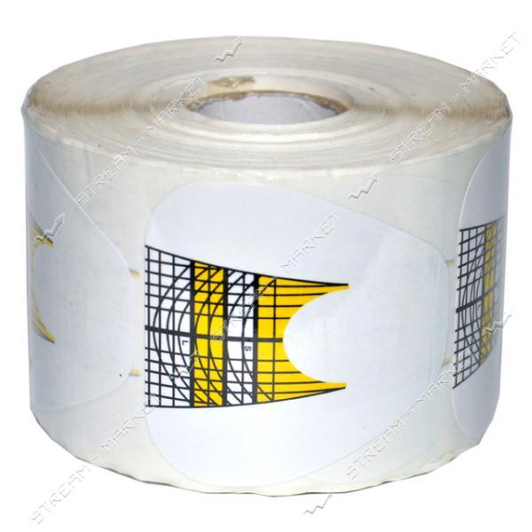 Бумажные формы для наращивания ногтей мягкий квадрат бело-желтые