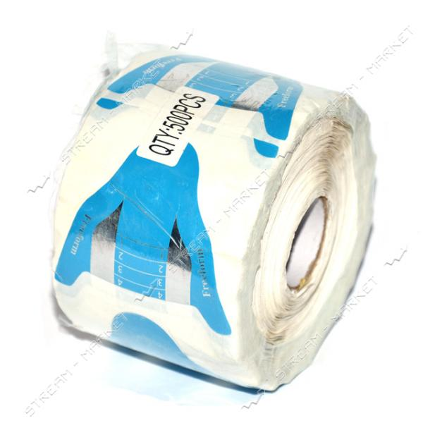 Бумажные формы для наращивания ногтей голубые