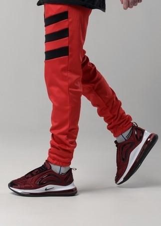 Мужские спортивные штаны Light Сloud - Flip красно-черные
