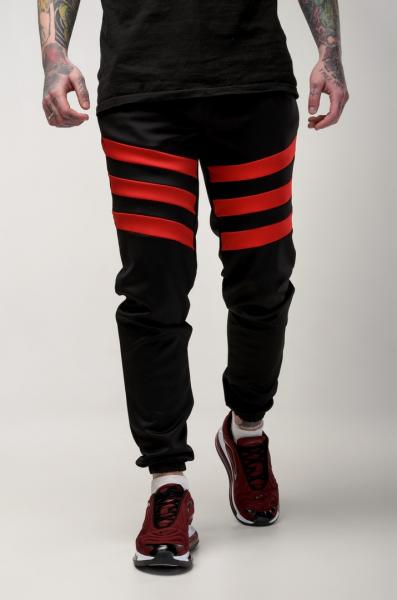 Мужские спортивные штаны Light Сloud - Flip (черно-красные)