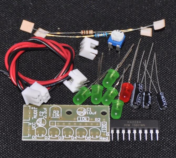 Набор для сборки 5-ти светодиодный индикатор на KA2284