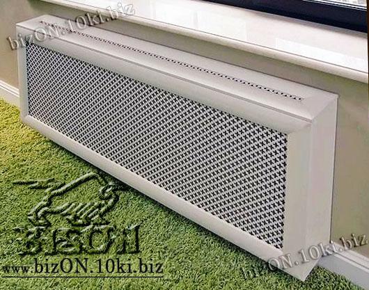 Короб для радиатора отопления по индивидуальным размерам под заказ, из перфорированного ХДФ (МДФ)