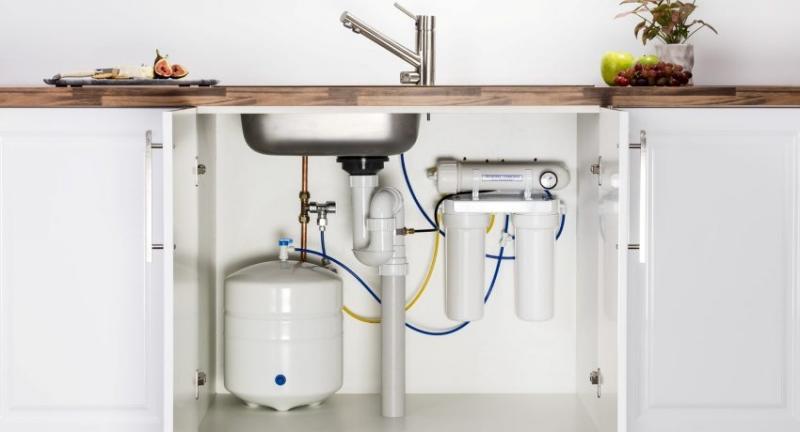 монтаж фильтров воды