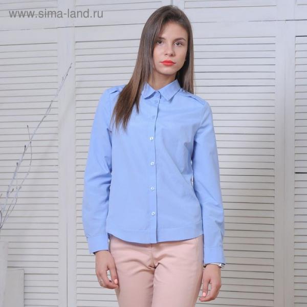 Рубашка женская 5170а С+, размер 50, рост 164 см, цвет голубой