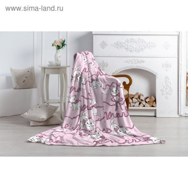 """Плед """"Павлинка"""" Кошка Мари, 150х200, цвет розовый, аэрософт 190гм, пэ100%"""