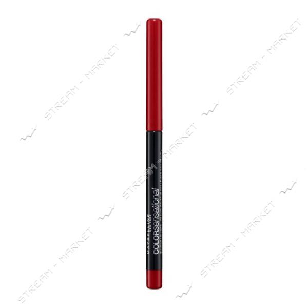 Карандаш для губ Maybelline New York Color Sensational Shaping Lipliner 80 Красный 2г