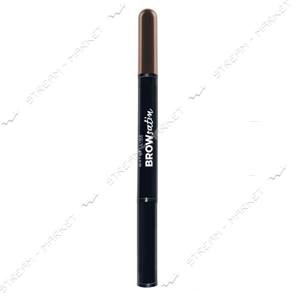 Корректор для бровей Maybelline New York 2-в-1 Brow Satin 02 Коричневый 4г