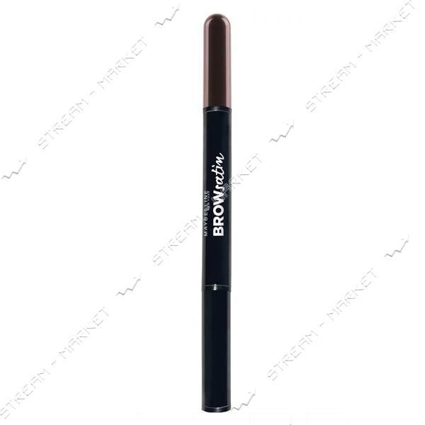 Корректор для бровей Maybelline New York 2-в-1 Brow Satin 04 Темно-коричневый 4г