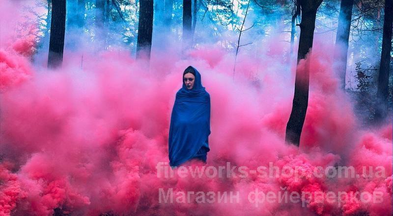Фото Цветные дымы MA 0512 Дым малиновый 100 секунд