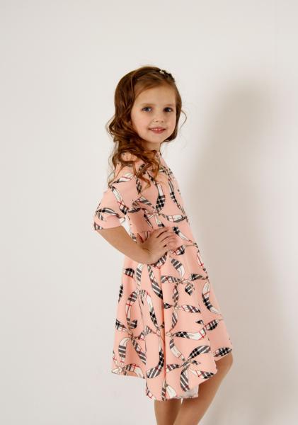 Плаття ПЛ-36 рожеве з лентами Пл-36 Мона