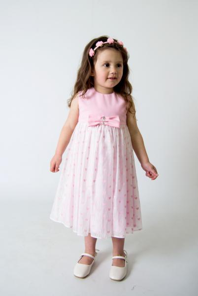 Плаття Рожеве сердечко Мона  ПЛ-34