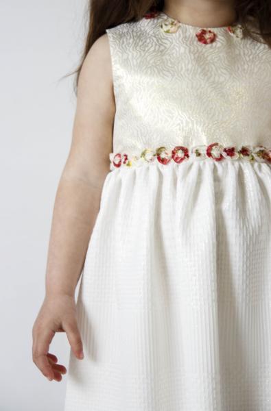 Плаття біле з золотом ПЛ-3418 Мона