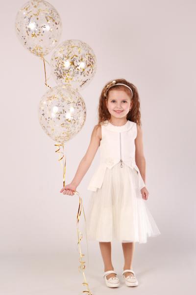 Плаття Біла квітка замок ПЛ-2718 Мона