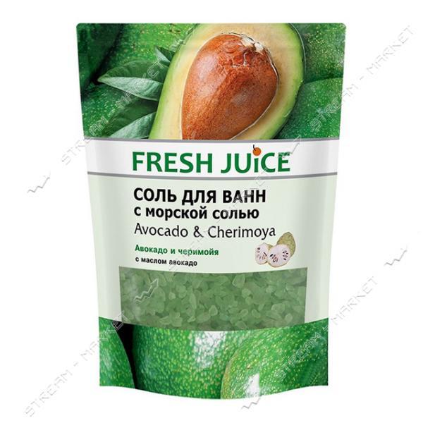 Соль для ванн Fresh Juice Avocado & Cherimoya doy-pack 500мл