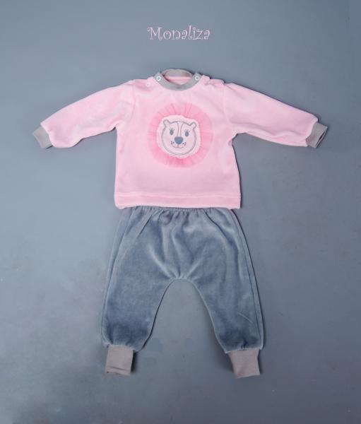 Костюм велюр рожевий КС-0619 Мона