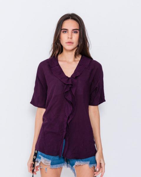 Блузы ISSA PLUS WN7-56  L фиолетовый