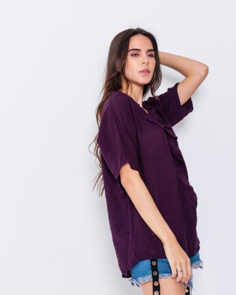 Фото  Блузы ISSA PLUS WN7-56  L фиолетовый