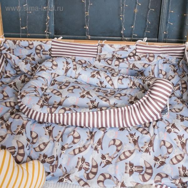 Матрасик-топпер «Еноты», размер 72×100 см, бязь/синтепух