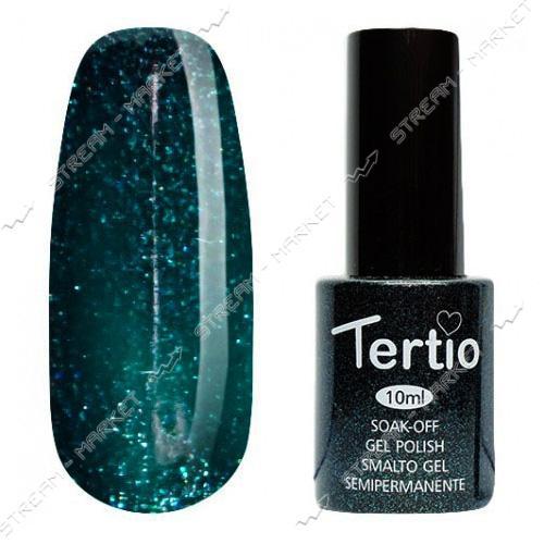 Гель-лак Tertio №053 Глубокий темно-изумрудный с мерцанием 10 мл