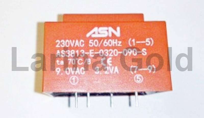 Трансформатор понижающий (230V, 9V, 3.2VA, 70°C)
