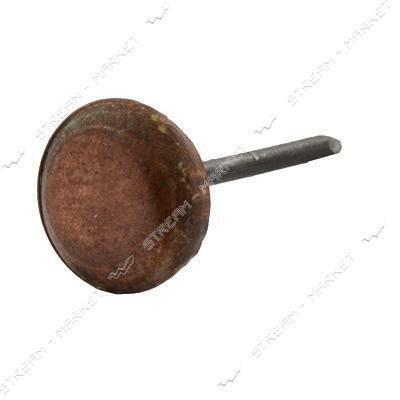 Гвоздь обивочный гладкая шляпка медь