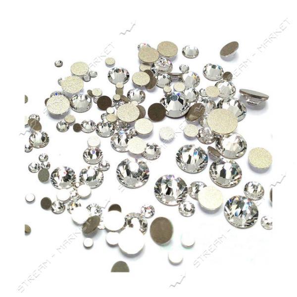 Стразы МИКС Серебро размер S3-S20 1440 шт