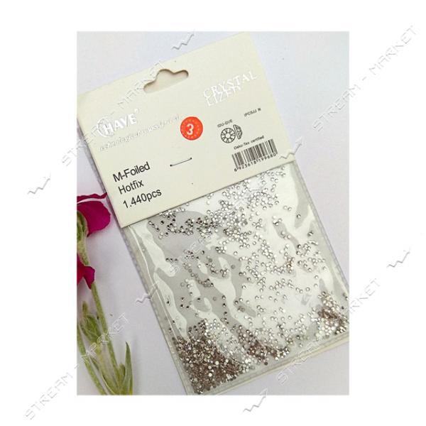 Стразы Серебро размер S3 1440 шт