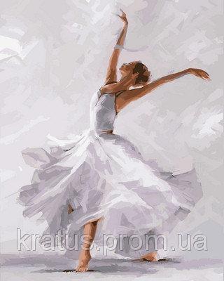 "VP791 ""Белый танец"" Картина по номерам на холсте 40х50см"
