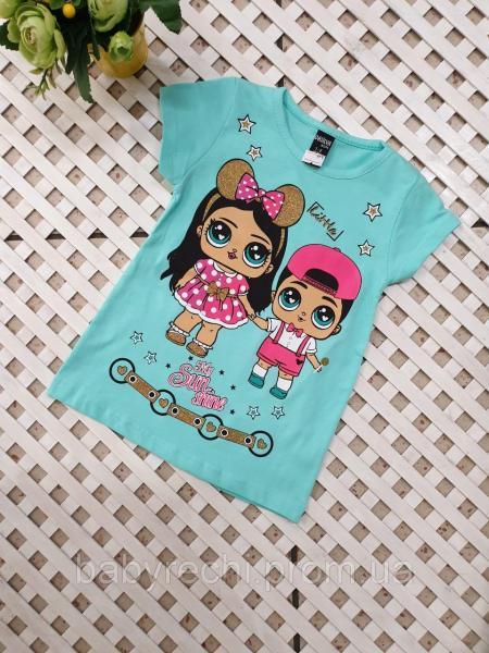 Детская футболка Лол для девочки 1-8 лет