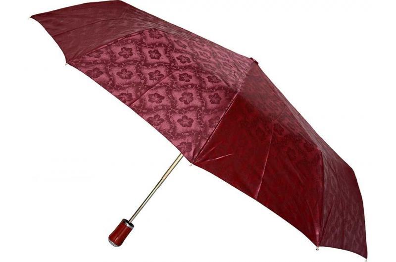 Женский бордовый зонт Sponsa ( полный автомат ) арт. 17023-01
