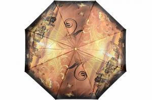 Фото  Женский зонт коричневый Три Слона ( полный автомат ) арт. 145K-03