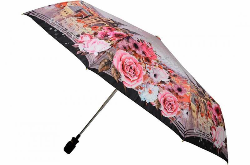 Женский зонт цветы Три Слона ( полный автомат ) арт. 101K/AC-05
