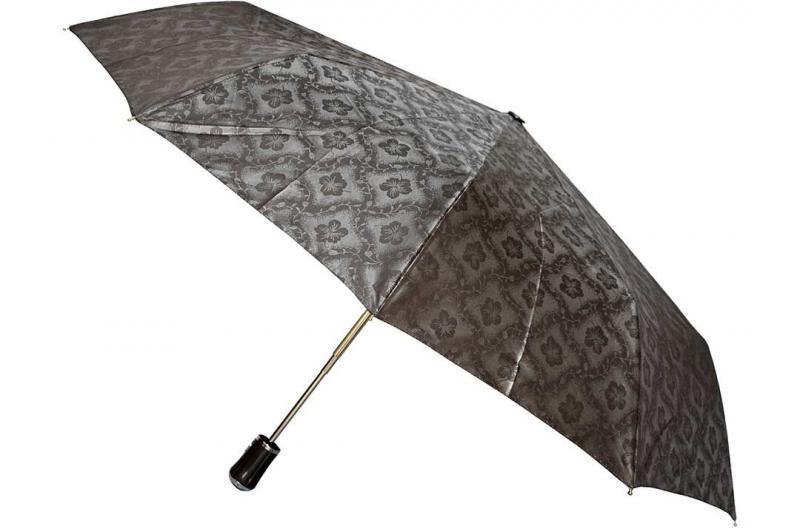 Женский серый зонт с узорами Sponsa ( полный автомат ) арт. 17023-03