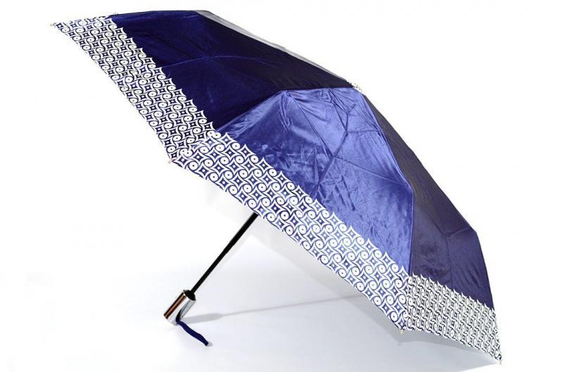 Женский синий зонт Sponsa ( полный автомат ) арт. 305-03